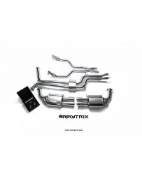 ARMYTRIX Stainless Steel Valvetronic Catback Exhaust System Quad Blue Coated Tips Audi A6 | A7 C7 3.0 TFSI V6 11-17