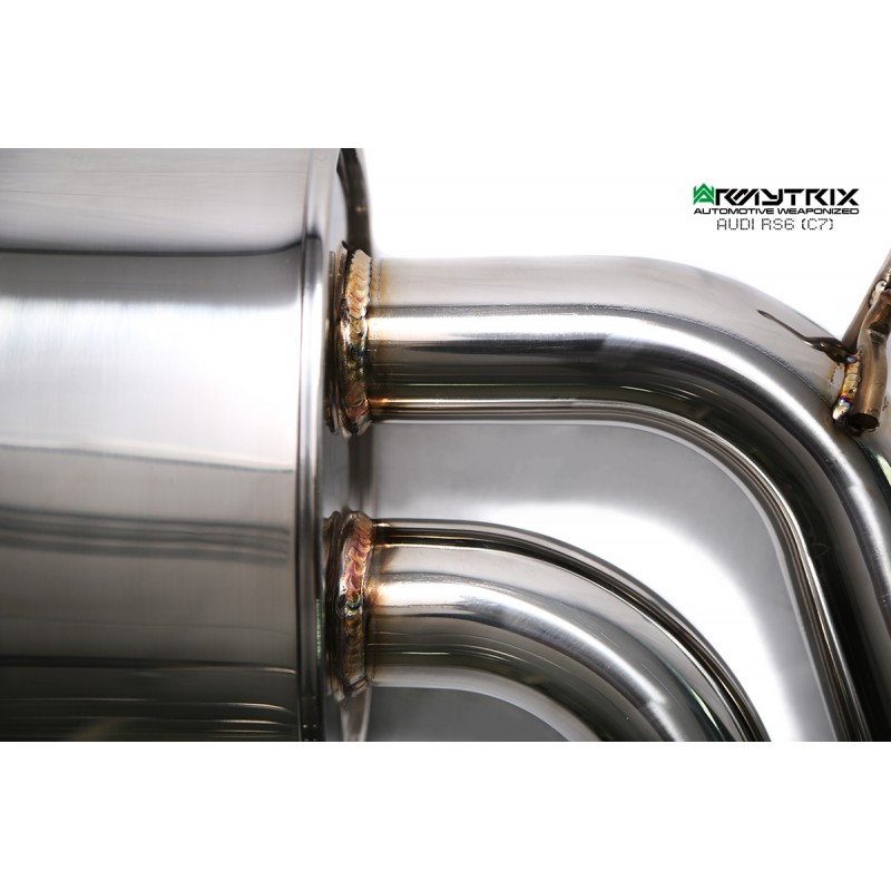 Armytrix Stainless Steel Valvetronic Catback Exhaust System Audi Rs7