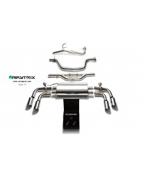 ARMYTRIX Stainless Steel Valvetronic Catback Exhaust System Quad Matte Black Coated Tips Audi TT MK2 8J 2WD 07-14