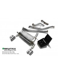 ARMYTRIX Stainless Steel Valvetronic Catback Exhaust System Quad Matte Black Tips 3-Series 4-Series F3x 11-14