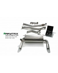 ARMYTRIX Stainless Steel Valvetronic Catback Exhaust Quad Matte Black Tips BMW 435i Gran Coupe F36 15-16