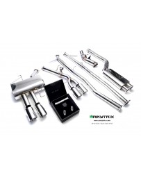 ARMYTRIX Stainless Steel Valvetronic Catback Exhaust System Quad Chrome Silver Tips BMW 520i 528i F10 N20B20 11-17