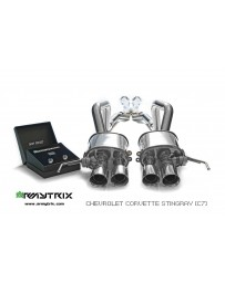 ARMYTRIX Stainless Steel Valvetronic Catback Exhaust System Matte Black Tips Chevrolet Corvette Stingray/Grand Sport C7 LT1
