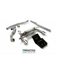 Armytrix Stainless Steel Exhaust System Chrome Tips Ford Focus RS MKII 16-18
