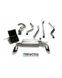 ARMYTRIX Stainless Steel Valvetronic Catback Exhaust System Dual Chrome Silver Tips Mercedes Benz A-Class W176 2WD 13-15