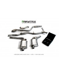 ARMYTRIX Stainless Steel Valvetronic Catback Exhaust System with Temp Sensors Mercedes Benz C-Class W205 LHD 15-18
