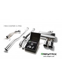 ARMYTRIX Stainless Steel Valvetronic Catback Exhaust System Dual Chrome Silver Tips Mini Cooper S F55 15-18