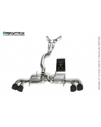 ARMYTRIX Stainless Steel Valvetronic Catback Exhaust System Quad Matte Black Tips Nissan GT-R R35 09-18