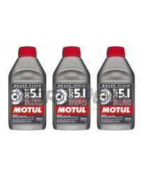 350z Motul Dot 5.1 Synthetic Racing Brake / Clutch Fluid - 3 Pack