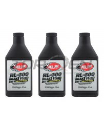 350z Red Line RL-600 Racing Brake Fluid - 16 oz - 3 Pack