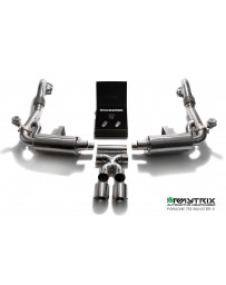 ARMYTRIX Stainless Steel Valvetronic Exhaust System Dual Matte Black Porsche 718 Boxster | Cayman 17-18