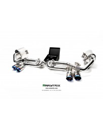 ARMYTRIX Stainless Steel Valvetronic Exhaust System Quad Matte Black Tips Porsche 991 Carrera | S 12-16