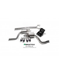 ARMYTRIX Stainless Steel Valvetronic Exhaust System Quad Chrome Silver Tips Porsche 970 Panamera 3.0T 14-16
