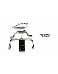 ARMYTRIX Stainless Steel Valvetronic Catback Exhaust System Dual Chrome Silver Tips Volkswagen Golf | GTI MK7 14-16