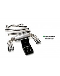 ARMYTRIX Stainless Steel Valvetronic Catback Exhaust System Quad Chrome Silver Tips Volkswagen Golf R MK7 14-16