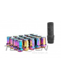 370z TORQEN Lug Nut Set, M12x1.25mm 20 Pack - Closed, Neo-Chrome