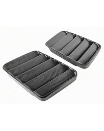 Nissan GT-R R35 APR Performance Wide Hood Vent Pair, Carbon Fiber - Universal