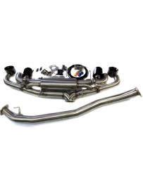 Nissan GT-R R35 Agency Power Electronic Valve Controlled 90mm Exhaust Muffler, Chrome Black Tips