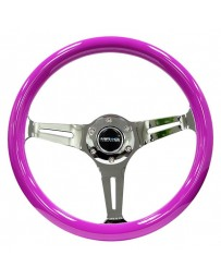 350z NRG Innovations 3-Spoke Classic Wood Grain Steering Wheel with Black Chrome Center Spoke