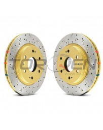 350z DBA HD Series 4000XS Series Drilled and Slotted Vented 1-Piece Front Brake Rotor - Pair of 2