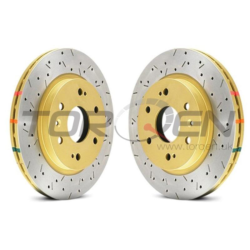 Pair Set of 2 Front C-Tek Brake Disc Rotors For Honda Civic CRX Insight Wagovan