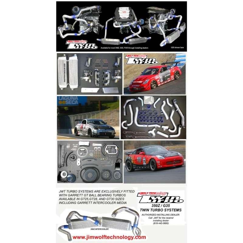350z DE JWT Jim Wolf Technology Twin Turbo kit - LHD - TORQEN