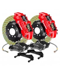 R34 Brembo GT Series Cross Drilled 2-Piece Rotor Rear Big Brake Kit - Red