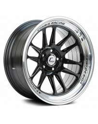 "COSMIS RACING - XT-206R Black with Machined Lip (18"" x 9.5"", +10 Offset, 5x114.3 Bolt Pattern, 73.1mm Hub)"