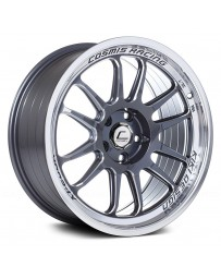 "COSMIS RACING - XT-206R Gunmetal with Machined Lip (18"" x 9"", +33 Offset, 5x100 Bolt Pattern, 73.1mm Hub)"