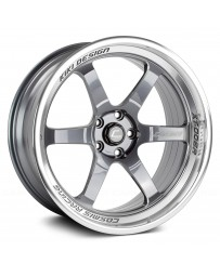 "COSMIS RACING - XT-006R Gunmetal with Machined Lip (20"" x 9.5"", +10 Offset, 5x114.3 Bolt Pattern, 73.1mm Hub)"