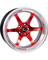"COSMIS RACING - XT-006R Red with Machined Lip (18"" x 9.5"", +10 Offset, 5x114.3 Bolt Pattern, 73.1mm Hub)"
