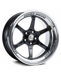 "COSMIS RACING - XT-006R Black with Machined Lip (18"" x 11"", +8 Offset, 5x114.3 Bolt Pattern, 73.1mm Hub)"