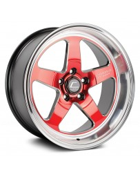 "COSMIS RACING - XT-005R Red with Machined Lip (18"" x 9"", +25 Offset, 5x114.3 Bolt Pattern, 73.1mm Hub)"