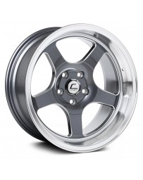 "COSMIS RACING - XT-005R Gunmetal with Machined Lip and Milled Spokes (18"" x 10"", +20 Offset, 5x120.65 Bolt Pattern, 74.1mm Hub)"