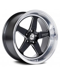 "COSMIS RACING - XT-005R Black with Machined Lip (17"" x 9.5"", +5 Offset, 5x114.3 Bolt Pattern, 73.1mm Hub)"