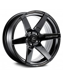 "COSMIS RACING - S1 Black with Milled Spokes (18"" x 9.5"", +15 Offset, 5x114.3 Bolt Pattern, 73.1mm Hub)"