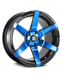 "COSMIS RACING - S1 Black with Blue Face and Milled Spokes (18"" x 9.5"", +15 Offset, 5x114.3 Bolt Pattern, 73.1mm Hub)"