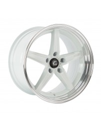 COSMIS RACING - R5 18x10.5 +15mm 5x114.3 COLOR: White with Machined Lip