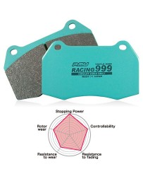 350z Project Mu RACING 999 Front Brembo Brake Pads
