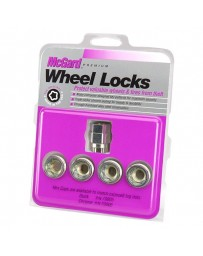 Nissan Juke Nismo RS 2014+ McGard Silver Under Hub Cap Cone Seat Wheel Lock Set