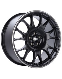 BBS CH 18x8.5 5x100 ET30 Satin Black Polished Rim Protector Wheel -70mm PFS/Clip Required