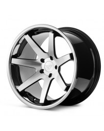 Ferrada FR1 Machine Black Chrome Lip 22x9 Bolt 5x4.75 Offset +30 Hub Size 74.1 Backspace 6.18