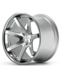 Ferrada FR1 Machine Silver Chrome Lip 22x9 Bolt 5x112 Offset +30 Hub Size 66.6 Backspace 6.18