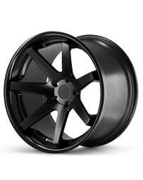 Ferrada FR1 Matte Black Gloss Black Lip 22x9.5 Bolt 5x112 Offset +15 Hub Size 66.6 Backspace 5.84