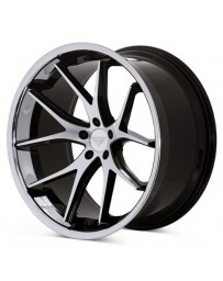 Ferrada FR2 Machine Black Chrome Lip 22x9.5 Bolt 5x112 Offset +15 Hub Size 66.6 Backspace 5.84