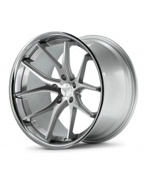Ferrada FR2 Machine Silver Chrome Lip 22x9 Bolt 5x112 Offset +30 Hub Size 66.6 Backspace 6.18