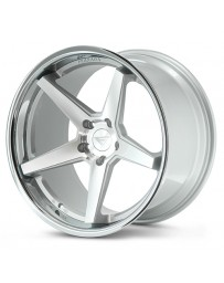 Ferrada FR3 Machine Silver Chrome Lip 19x8.5 Bolt : 5x4.75 Offset : +33 Hub Size : 72.6 Backspace : 6.05