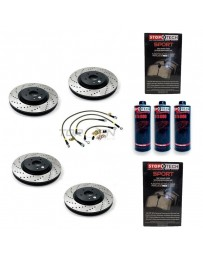 350z StopTech F+R Brake Discs Pads Lines and Fluid Pack - Drilled - Brembo