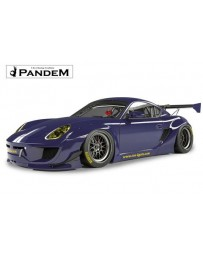 Porsche Cayman Pandem Complete Widebody Aero Kit with Wing