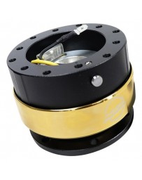 NRG Quick Release Gen 2.0 - Black Body / Chrome Gold Ring